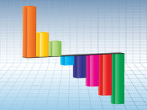 Chart illustration. Colorful business chart vector illustration Royalty Free Stock Photo