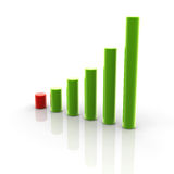 Chart increase. 3D Illustration of business chart increase royalty free illustration