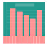 Chart for infographics flat design infographics statistics charts and graphs Stock Photography