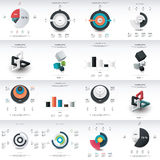 Chart infographics template design Stock Photo