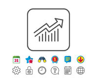 Chart line icon. Report graph sign. Royalty Free Stock Image
