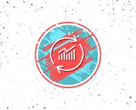 Chart line icon. Update Report graph sign. Royalty Free Stock Photos