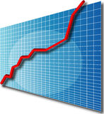 Chart line3d up. 3d line chart going up Royalty Free Illustration