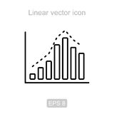 Chart. Linear  icon. Royalty Free Stock Photos