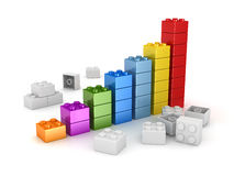 Chart made colorful toys. This is a computer generated and 3d rendered picture Stock Photos