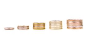 Chart made of stacks of coins Stock Image