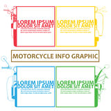 Chart of motorbike and color tab Stock Photo