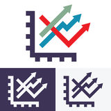 Chart options vector icons Royalty Free Stock Photos