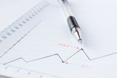 Chart and Pen Stock Images