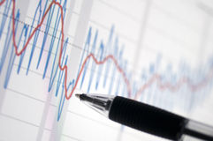 Chart with a pencil Royalty Free Stock Photo