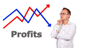 Chart profit Royalty Free Stock Photos