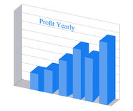 Chart of profit growth Royalty Free Stock Photos