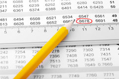 Chart with ruler. Stock Photography
