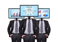 Chart and seo schene Royalty Free Stock Photos