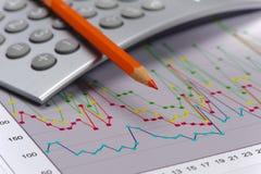 Chart shows success at stock market Royalty Free Stock Photo