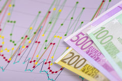 Chart shows success at stock market Stock Photography