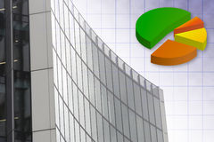 Chart and skyscraper Stock Images