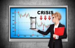 Chart stock market crash Royalty Free Stock Photo