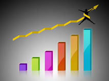 Chart with successful business. Commerce chart with successful business Royalty Free Stock Photography