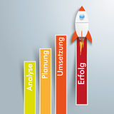 Chart Successful Strategy Rocket Royalty Free Stock Images
