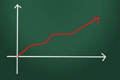 Chart symbol. Business arrow symbol Stock Photo