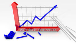 Chart under construction Royalty Free Stock Image