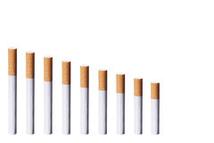 Chart With Cigarettes Stock Images