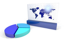 Chart with world map Stock Photos