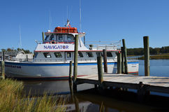 Charter Boat Fishing Waterway Deep Sea Stock Photography