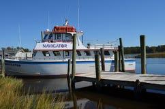 Charter Boat Fishing Waterway Deep Sea stock photography