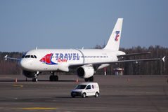 Charter company. Travel service charter company flying with Airbus A321 Royalty Free Stock Photo
