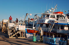 Charter Fishing Boats at Captree State Park New York Stock Photos