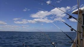 Charter fishing. Rods stock image
