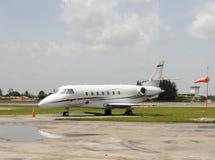 Charter jet. Luxury charter jet awaiting passengers stock images