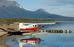 A charter plane used for tours and cargo on atlin lake Stock Image