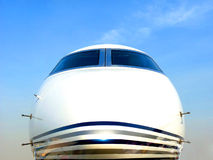 Chartered Plane. Front of a chartered plane for business travel Royalty Free Stock Photo