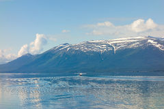 A chartered seaplane taking off from atlin bay, bc Stock Images