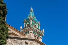 Charterhouse av Valldemossa på Mallorca, Spanien Royaltyfri Fotografi