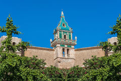 Charterhouse av Valldemossa på Mallorca, Spanien Arkivfoton