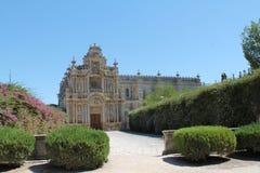 Charterhouse of  Jerez de la Frontera. In a sunny day Stock Photography