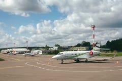 Chartes privées dans l'aéroport international de Vilnius Image stock