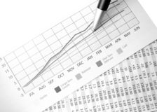 Charting success Stock Photos