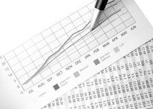 Charting success Stock Photos