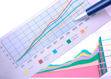 Charting Success Royalty Free Stock Photo