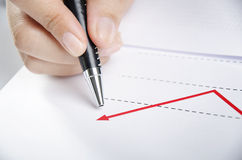 Charting up Stock Image