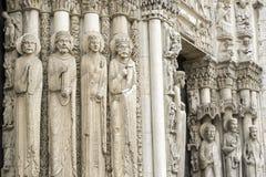Chartres - собор Стоковое Фото