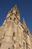 Chartres Cathedral. View of Chartres Cathedral main tower Royalty Free Stock Images