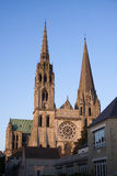 Chartres Cathedral. View of Chartres Cathedral from the town Royalty Free Stock Photo