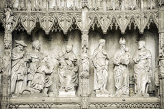 Chartres - Cathedral. Chartres (Eure-et-Loir, Centre, France) - Interior of the cathedral in gothic style: statues Stock Images