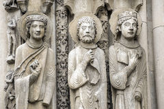 Chartres - Cathedral. Chartres (Eure-et-Loir, Centre, France) - Exterior of the gothic cathedral: statues Stock Images